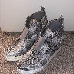 CCOCCI Zoey Snakeskin Wedge Shoe